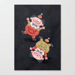 Tweedledee and Tweedledum - Alice in Wonderland Canvas Print