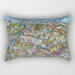 Illustrated map of Berlin-Prenzlauer Berg Rectangular Pillow