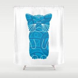 Tiki Cat Shower Curtain