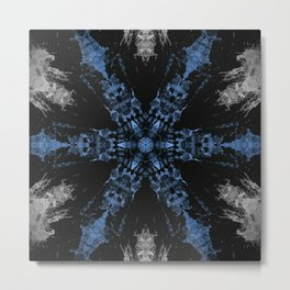 Black and Blue Asterisk Metal Print