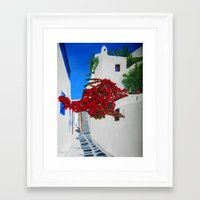 greece Framed Art Prints featuring Greece by maggs326