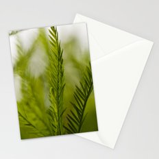 Delicate green fronds Stationery Cards