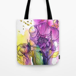 Expressive flowers Tote Bag