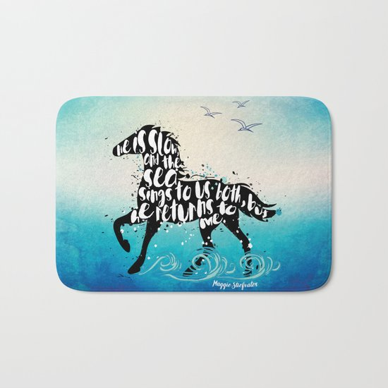 The Scorpio Races quote design Bath Mat