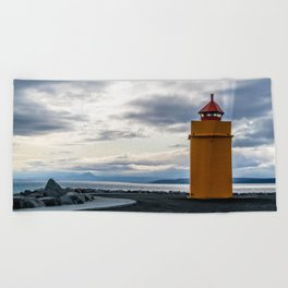 Lighthouse at the Point Beach Towel