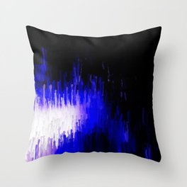 Aqua Stalagmites Throw Pillow