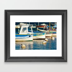 French boats 6971 Framed Art Print