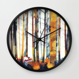Autumn Hunt Wall Clock