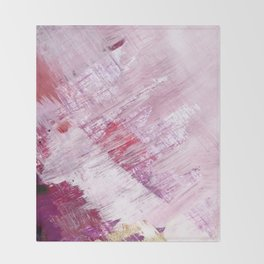 Magnetic [10]: a minimal abstract piece in gold, pink, red, white and purple Throw Blanket