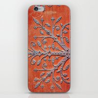 gothic iPhone & iPod Skins featuring Gothic Red Door by Joke Vermeer