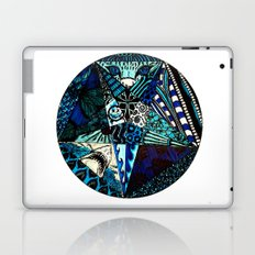 Blue Toned Pentagram Laptop & iPad Skin