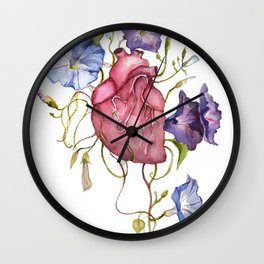 You are growing on me Ipomoea / blooming heart Wall Clock