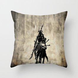 Mysterious Samurai Throw Pillow