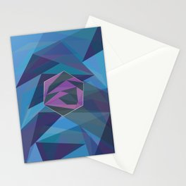Triangulate By Thomas Lampertius Stationery Cards