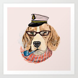 Mr.Beagle Art Print