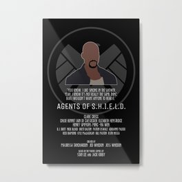 Agents of S.H.I.E.L.D. - Mac Metal Print