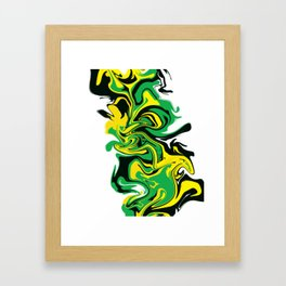 BlackGreen&Gold Framed Art Print
