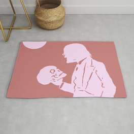 The Poet - Blush Minimalist Graphic Rug