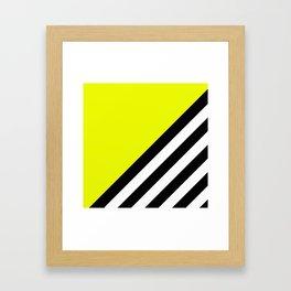 Sunshine Zebra Framed Art Print