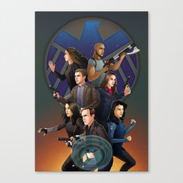 SHIELD Team In Action Canvas Print