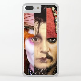 Faces Johnny Depp Clear iPhone Case