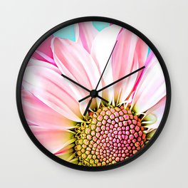 Lovely Pink Dahlia Wall Clock