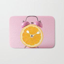 Orange Alarm Clock Bath Mat