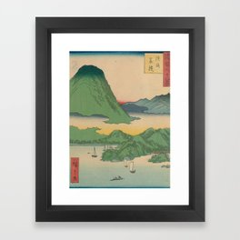 Mountain and Sea Ukiyoe Landscape Framed Art Print