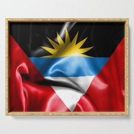 Antigua and Barbuda Flag Serving Tray