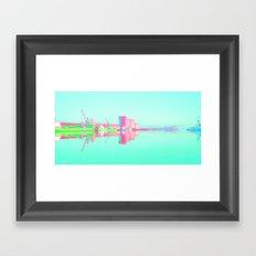 Neon Port Framed Art Print