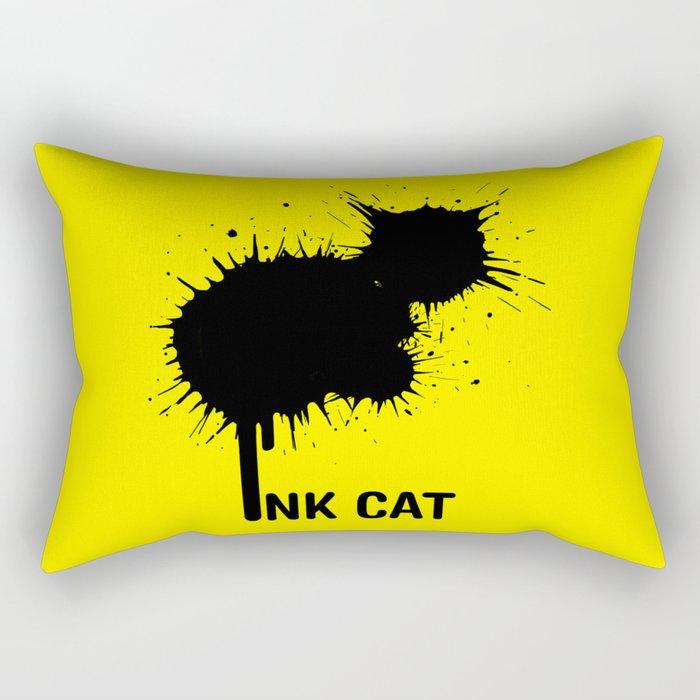 INK CAT Rectangular Pillow