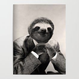 Gentleman Sloth with Assorted Pose Poster