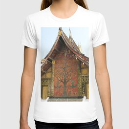 Decorated Pavilion at the Buddhist Xieng Thong Temple, Laos T-shirt