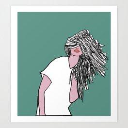 Hair down day Art Print