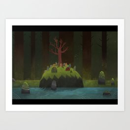 Forest island Art Print
