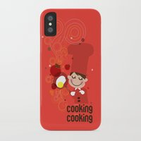 cooking iPhone & iPod Cases featuring Cooking Papa by inkdesigner