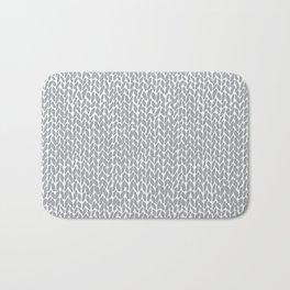 Hand Knit Light Grey Bath Mat