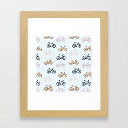 Bike pattern Framed Art Print