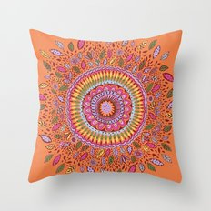 Pumpkin Bloom Throw Pillow