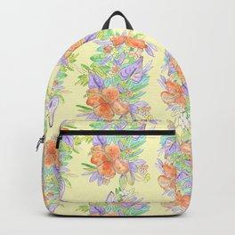hawaiian tropical flowers yellow Backpack