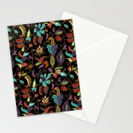 Black Batik Stationery Cards