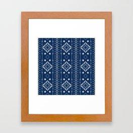 "Shibori Style ""Ladder"" Framed Art Print"