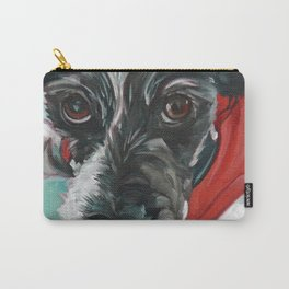 Black and White Dog Portrait Carry-All Pouch