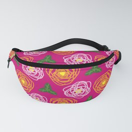 Bright pink floral Fanny Pack