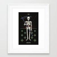 tarot Framed Art Prints featuring Tarot: Death by Merlin