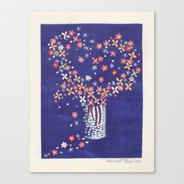 Untitled, hearts and flowers, 2002 Canvas Print