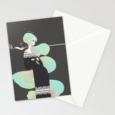 Love in Black Stationery Cards