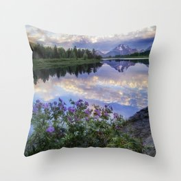 Wildflowers Along the Snake River Throw Pillow