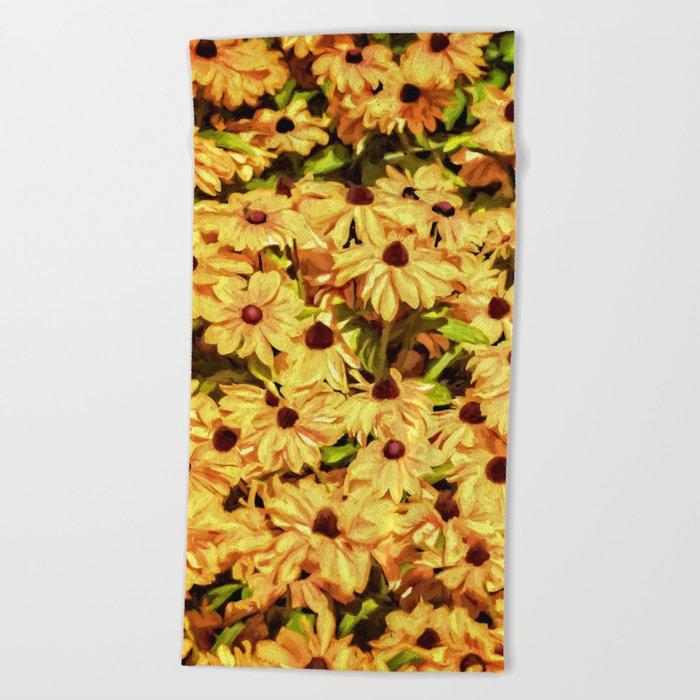 A field of Sunshine Beach Towel