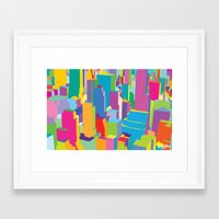 cityscape Framed Art Prints featuring Cityscape by Glen Gould